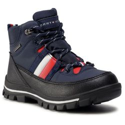 Trapery TOMMY HILFIGER - Technical Bootie T3B5-30968-0751800 S Blue 800