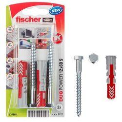 Kołek uniwersalny Fischer Duopower 12 x 60 z wkrętem 2 szt.