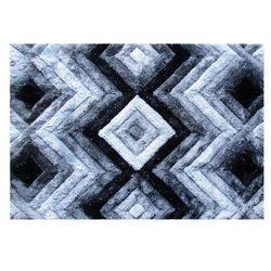 Dywan shaggy z efektem 3D APICA - 100% poliestru - kolor szary - 160 x 230 cm