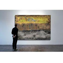 Bardzo duży wielki obraz z grubo nakładaną farbą 150x100cm