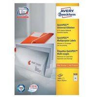 Etykiety biurowe, Etykiety uniwersalne AVERY ZWECKFORM trwałe 105 X 148 mm, 4 etykiety/A4 - X06535