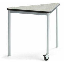 Stół SONITUS TRIANGEL, z kółkiem, 905x665x720 mm, szare linoleum, szary aluminium