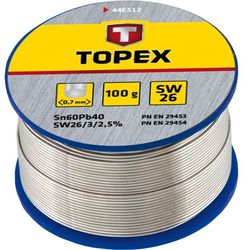 Lut cynowy TOPEX 60% Sn, drut 0.7 mm, 100 g