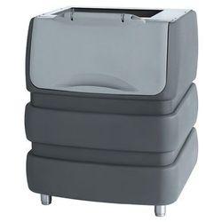 Zasobnik na lód z ABS, 190 kg, 942x795x1053 mm   NTF, BIN PE 530