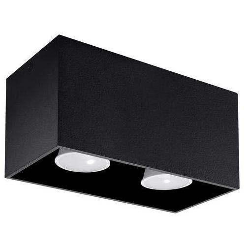 Lampy sufitowe, Spot plafon Sollux Quad Maxi SL.0381 oprawa sufitowa 2x40W GU10 czarny