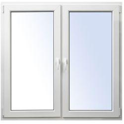 Okno PCV rozwierne + rozwierno-uchylne 1465 x 1435 mm symetryczne