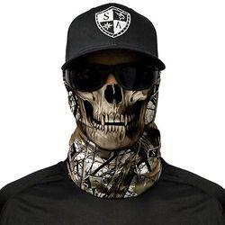 SA Co. Chusta Wielofunkcyjna Face Shield™ Snow Camo Skull - SA Snow Camo Skull