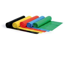 Worek na śmieci 120 litrów, 700 x 1100 mm, LDPE, 60 mikronów, zielony