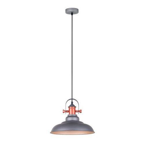 Lampy sufitowe, Lampa wisząca Temper 1 x 60 W E27 szara