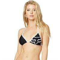 Stroje kąpielowe, strój kąpielowy FOX - Steadfast Swim Top Black (001) rozmiar: XS