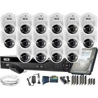 Pozostałe systemy alarmowe, ZM11981 Monitoring na duże powierzchnie 16 kamer BCS-DMQE1500IR3-B BCS-XVR16014KE-II 1TB