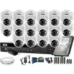 ZM11981 Monitoring na duże powierzchnie 16 kamer BCS-DMQE1500IR3-B BCS-XVR16014KE-II 1TB