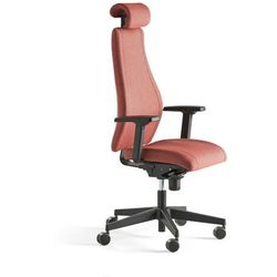 Krzesło biurowe LANCASTER, wysokie oparcie, śliwkowy