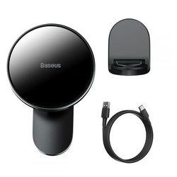 Uchwyt Magnetyczny Baseus z ładowarką Magsafe Wireless Car Charger 15W Black