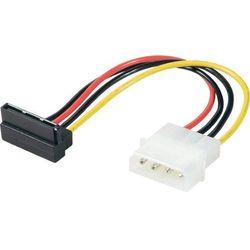 Przejściówka, adapter SATA Renkforce 1386532[1x złącze męskie IDE 4-pin - 1x złącze żeńskie zasilania SATA], 0.15 m