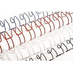 Grzbiety do bindowania drutowe, białe, 8 mm, 100 sztuk, oprawa 41-55 kartek - Super Ceny - Rabaty - Autoryzowana dystrybucja - Szybka dostawa - Hurt