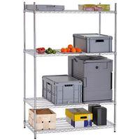 Szafki i regały gastronomiczne, Regał magazynowy 4-półkowy, regulowane półki, 1210x610x1840 mm | BARTSCHER, 4500