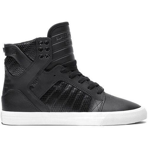 Damskie obuwie sportowe, buty SUPRA - Wmns Skytop High Black/Black (BBW) rozmiar: 36.5