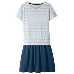 Sukienka shirtowa bonprix naturalno-niebieski