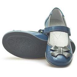 Balerinki dziecięce Kornecki 04683 Niebieskie/Blue lakierowane