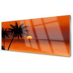Panel Kuchenny Palma Morze Słońce Krajobraz
