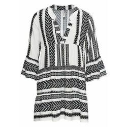 Krótka sukienka letnia bonprix czarno-biały wzorzysty