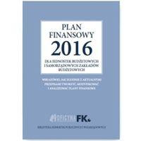 E-booki, Plan finansowy 2016 dla jednostek budżetowych i samorządowych zakładów budżetowych