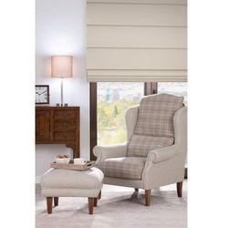 Dekoria Fotel dwukolorowy, beżowo- kremowa pepitka, 85×107cm, Edinburgh
