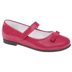Balerinki KORNECKI 4431 Pink Różowe Lakierki Baleriny na rzepy - Fuksja ||Różowy