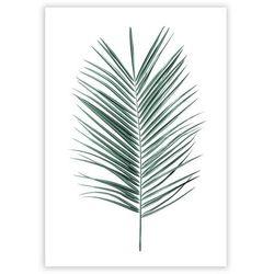 Dekoria Plakat Palm Leaf Emerald Green, 40 x 50 cm