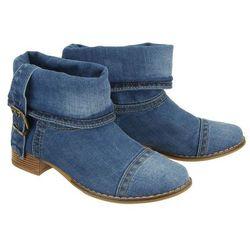 LANQIER 40C201 jeans, botki damskie