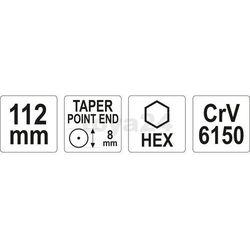 Punktak 8x112 mm Yato YT-47151 - ZYSKAJ RABAT 30 ZŁ