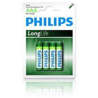 Baterie, Philips bateria LR3 AAA LongLife 1.5V (4 szt.)