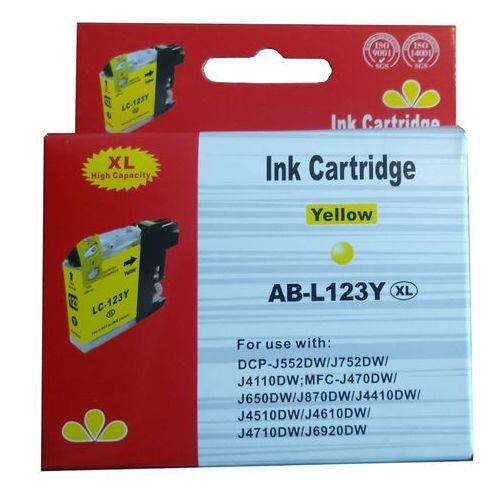 Tusze do drukarek, zastępczy atrament Brother [LC-123Y] yellow 100% nowy