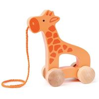 Zabawki z drewna, Drewniana żyrafa do ciągnięcia - Hape