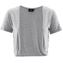 Bolerko shirtowe bonprix jasnoszary melanż