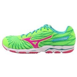 Mizuno WAVE HITOGAMI 4 Obuwie do biegania startowe green gecko/electric/ceramic