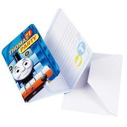 Zaproszenia urodzinowe z kopertami Tomek i przyjaciele - 6 szt.
