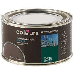 Farba antykorozyjna Colours ciemna zielona 0,25 l
