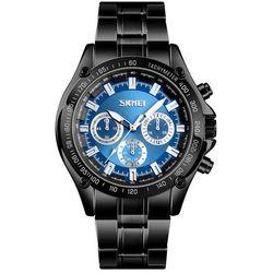 Zegarek męski SKMEI 1366 BRANSOLETA black/blue - black/blue