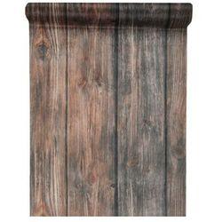 Dekoracja bieżnik na stół Czekoladowe Drewno - 30 cm - 1 szt.