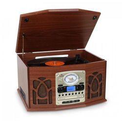 NR-620 stereofoniczny gramofon nagrywający MP3, brązowa obudowa drewniana