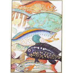 KARE Design:: Obraz Touched Fish Meeting Two 100x70cm - wzór 2 Powrót do szkoły 2018 -20% (-20%)
