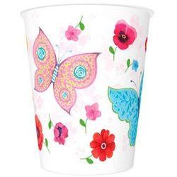 Kubeczki urodzinowe Motylki i Kwiatki - 250 ml - 8 szt.