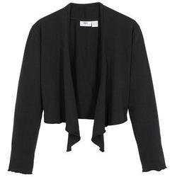 Bolerko shirtowe dziewczęce, wiązane z przodu bonprix czarny
