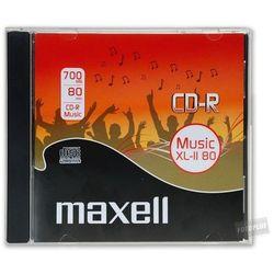 Maxell Maxell CD-R 700 MB AUDIO XL II JEWELCASE BOX (624880.40) Darmowy odbiór w 21 miastach!