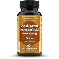 Żeń-szeń koreański Panax ginseng 4:1 ekstrakt 250mg 90 kapsułek PharmoVit