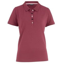Shirt polo z bawełny pique bonprix bordowy