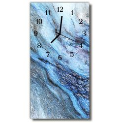 Zegar Szklany Pionowy Kamień naturalny niebieski