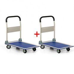 Składany wózek platformowy, nośność 150 kg, 1+1 GRATIS